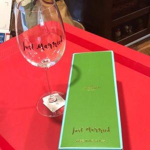 NIB Kate Spade wine glass